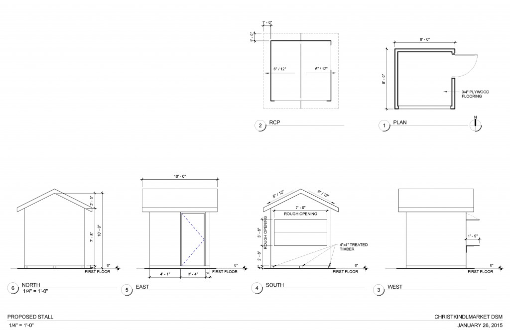 Christmas Market - Sheet - A133 - PROPOSED STALL1